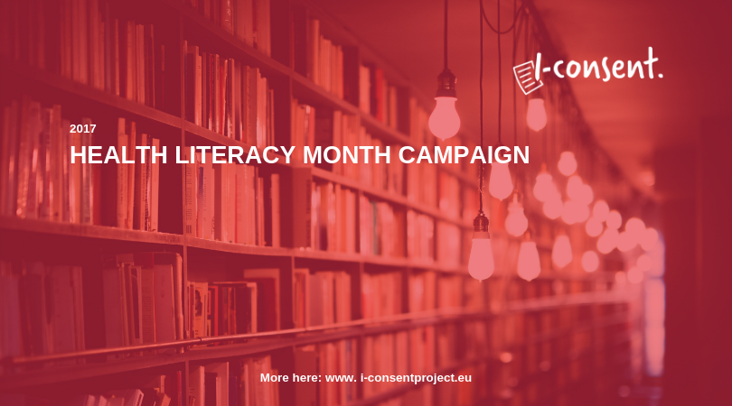 I-Consent taking part in #healthliteracymonth campaign