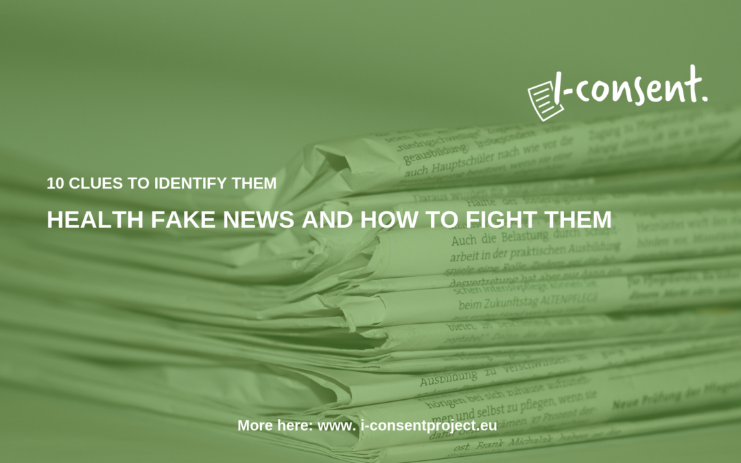 Health fake news and how to fight them by i-CONSENT