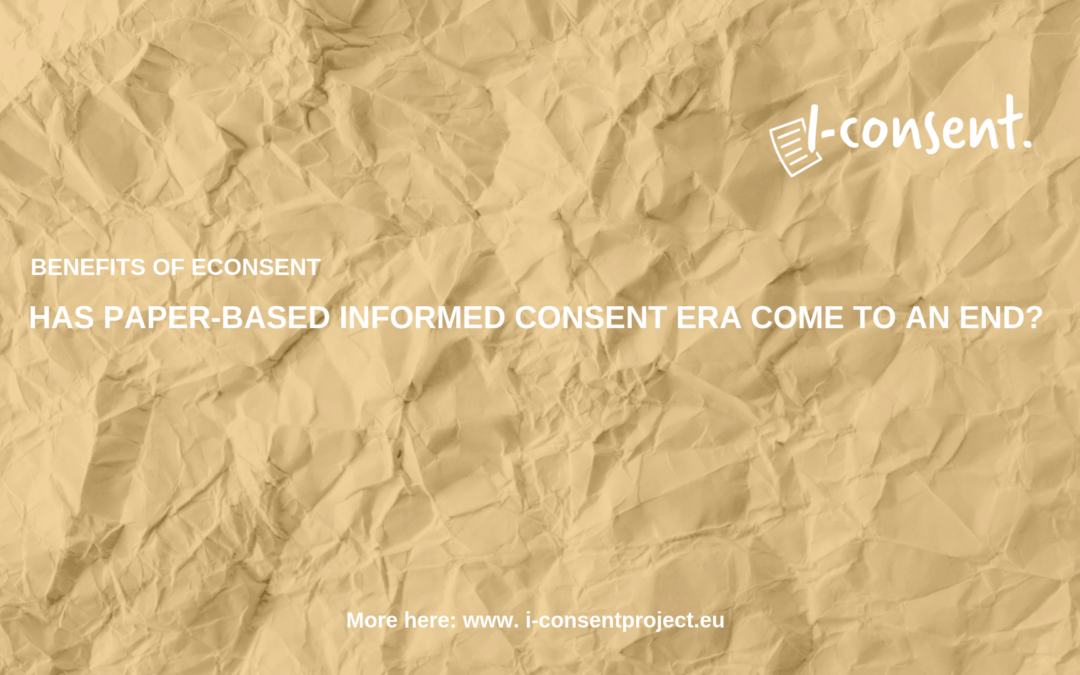 Has paper-based Informed Consent era come to an end?