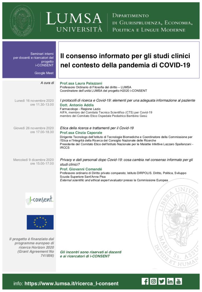 COVID iCONSENT Workshop agenda